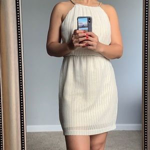 Cream and gold dress in XS